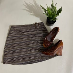 Express vintage belted mini skirt